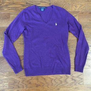 Ralph Lauren Sport Purple Sweater